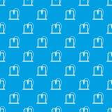 3D printer frame pattern seamless blue Royalty Free Stock Photos