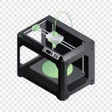 3d printer icon, isometric style royalty free illustration