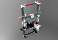 3D Printer Illustration Royalty-vrije Stock Foto