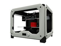 3D printer. Image of a 3D printer royalty free stock photos