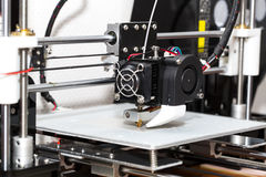 3d printer mechanism working Stock Photos