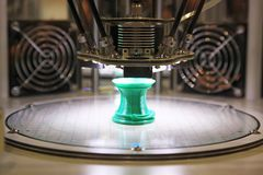 3D printer for plastic Royalty Free Stock Photo