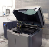 3D Printer (Polyjet). PolyJet is a 3D printing technology that produces smooth, accurate parts, prototypes and tooling royalty free stock images