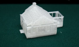 3D Printer - Print model. House The future of science and technology,The application in teaching and life royalty free stock images