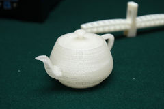 3D Printer - Print model. Teapot The future of science and technology,The application in teaching and life Royalty Free Stock Photo
