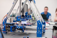 3D Printer. Printing a bracelet stock photo