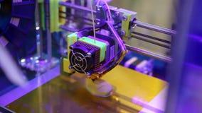 3d printer printing. Close up process of new printing technology
