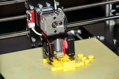 3d printer printing. Close up process of new printing technology stock photography