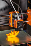 3d printer printing. Close up process of new printing technology stock images