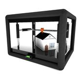 3d printer printing an entire house Royalty Free Stock Images