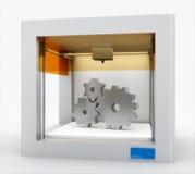 3d printer, printing gears Stock Image