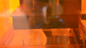 3d printer printing photopolymer