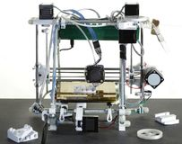 3D Printer. Printing Plastic Wire with 3D Printer stock image