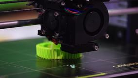 3d printer printing technology stock video footage
