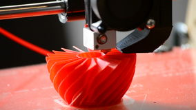 3D printer prints the figure close-up