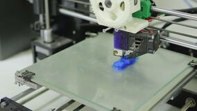 3D printer prints item stock video