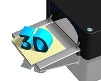 3D printer with product Royalty Free Stock Images