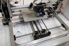 3d printer prototype. At work Stock Photography