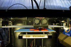 3D printer. Real 3d printer during operation royalty free stock photo
