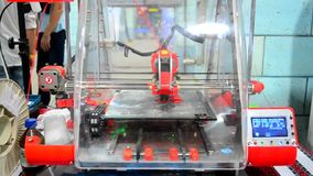 3D printer red general view stock video