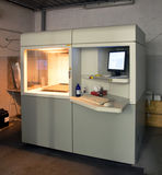 3D Printer & x28; SLA en DLP& x29; stock afbeelding