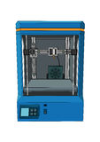 3D printer. Three dimensional printing machine on a white background Stock Image