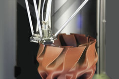 3D printer voor plastieken Royalty-vrije Stock Afbeelding