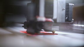 The 3D printer at work stock footage