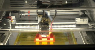 3D printer at work stock video footage