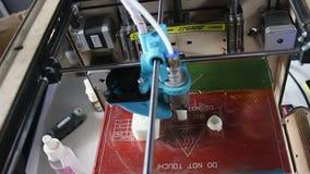 3D Printer At Work Process stock footage