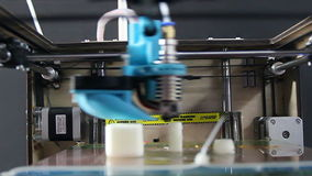 3D Printer At Work Process stock video footage