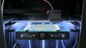 3D printer during work stock video