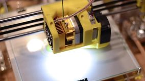 3D printer working. Close Up stock video footage