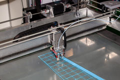 3D printer. Working 3d printer close up stock images