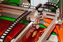 3D printer. Working 3d printer close up process royalty free stock photography