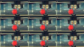 3D printer working. Fused deposition modeling,. FDM. 3D printer printing an object from plastic. Automatic three dimensional 3d printer. Multicam split screen stock footage