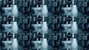 3D printer working. Fused deposition modeling, FDM. 3D printer printing. An object. Progressive additive technology for 3d printing. Multicam split screen group stock footage