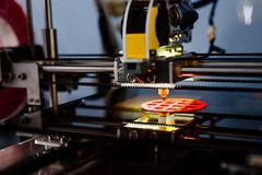 3d printer working and printing Royalty Free Stock Photo