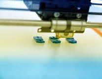 3d printermechanisme het werk yelementontwerp van het apparaat tijdens de processen Stock Fotografie
