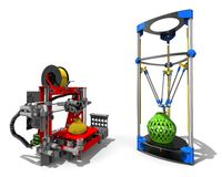 3D Printers concept concept Royalty Free Stock Photo
