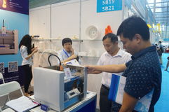 3D printing applications and facilities and Equipment Exhibition Royalty Free Stock Photography