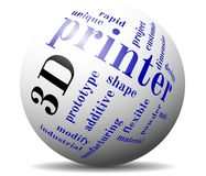 3d printing cloud ball. 3d printing cloud sphere background Royalty Free Stock Image