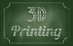 3D printing Royalty Free Stock Images