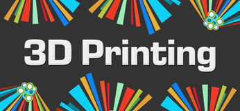 3D Printing Dark Colorful Elements Background Royalty Free Stock Images