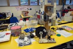 3D printing - den italienska vetenskapliga FabLaben Royaltyfria Foton