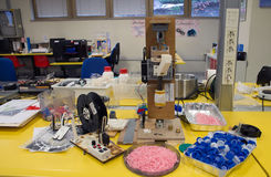 3D printing - den italienska vetenskapliga FabLaben Arkivbilder