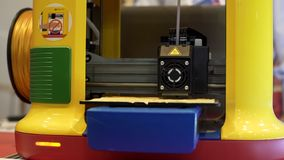 3d printing of detail, creating object with three dimensional technologies. Stock photo stock images