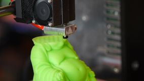 3D printing - Detail of a 3D printer stock footage