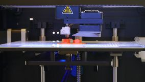 3D printing - Detail of a 3D printer stock video footage