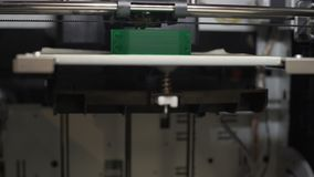 3d printing of industrial part, manufacturing presentation, high-end technology stock video